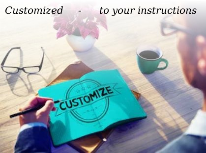 Custom writing means customized service