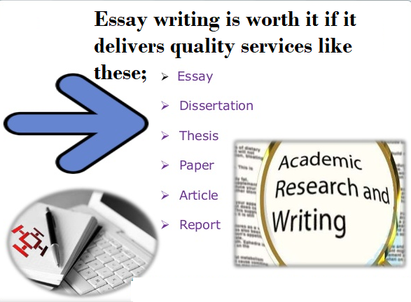 Essay writing is worth it if it delivers quality services and papers