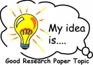 Interesting research paper idea