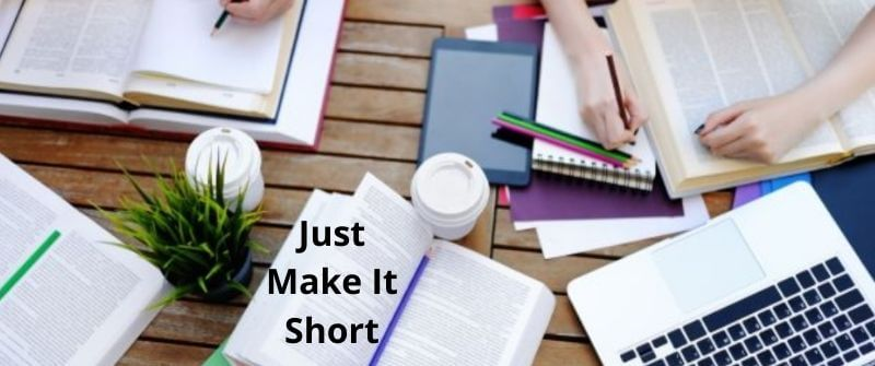 How to make an essay Short